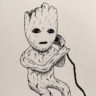 Baby Groot Drawing